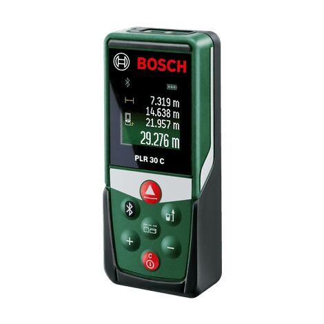Bosch Télémètre laser PLR 30 C (avec application dédiée, bluetooth, portée : 0,05–30 m, précision : ± 2 mm, dans boîte en carton)
