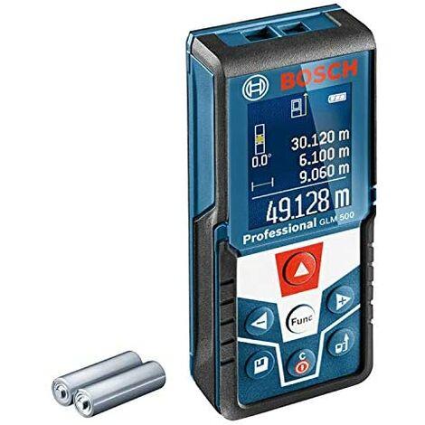 """main image of """"Bosch Télémètre laser professionnel GLM 500 (portée 0,05-50 m, inclinomètre 0 - 360°, précision de mesure : +/- 1,5 mm, 2 piles AAA, en boîte)"""""""