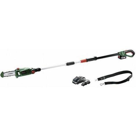Bosch UniversalChainPole 18 18V Podadora de iones de litio, incluye correa de transporte (1x batería de 2,5 Ah) - 200 mm
