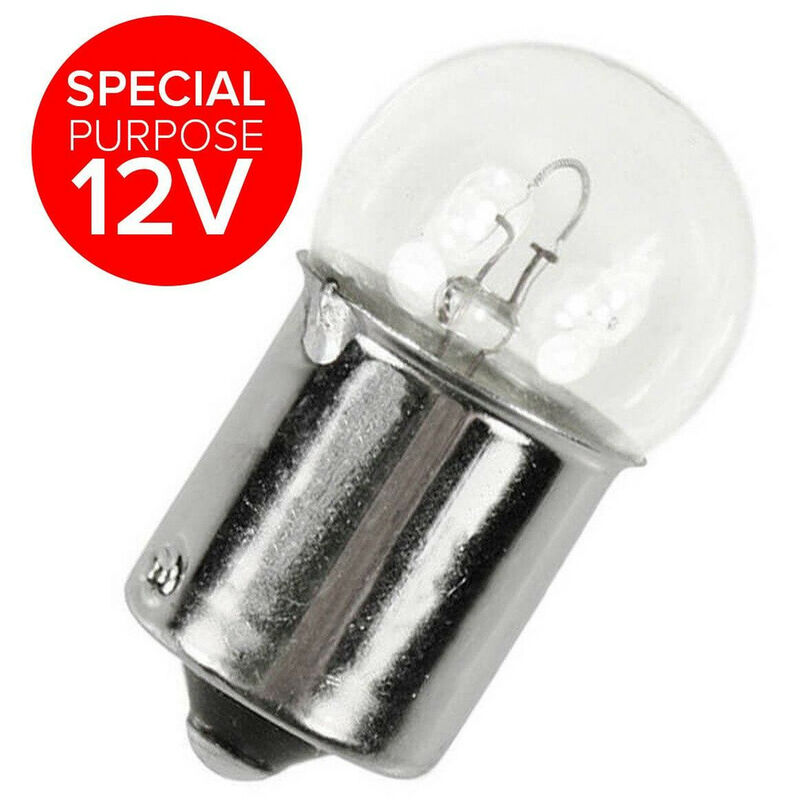 Image of Bosma 15W 18x36mm Miniature Ba15s 12V Dimmable for Caravan Motorhome 2800K Warm White Clear Incandescent Low Voltage Light Bulb