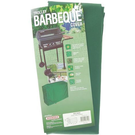 Bosmere Top Quality Trolley BBQ Cover Green C710