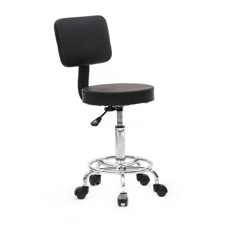 Boss Office Products Spa Drafting Stool with Back - Different colours