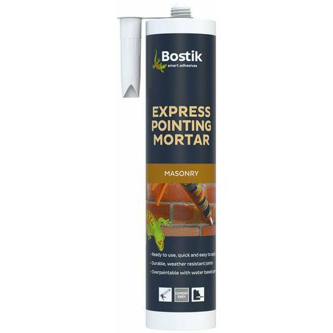 BOSTIK 310ml Express Cement Pointing Mortar Grey Durable Masonry Repair