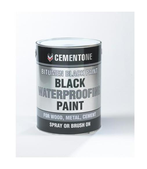 Image of Aquamac Bitumen Paint Black 1 Litre - Bostik