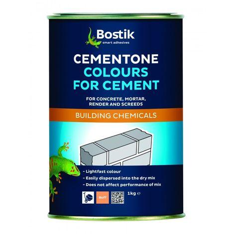 Bostik Cement Dye Concrete Powder Render Mortar Pigment Pointing 1kg Black