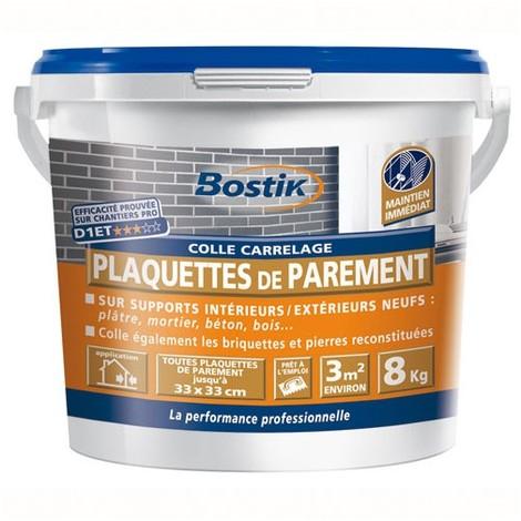 BOSTIK - Colle carrelage - plaquettes de parement - blanc- 8 Kg