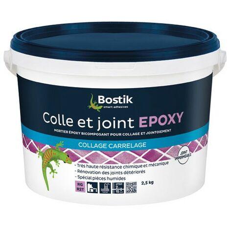 BOSTIK - Colle et joint époxy - 2.5 Kg - blanc