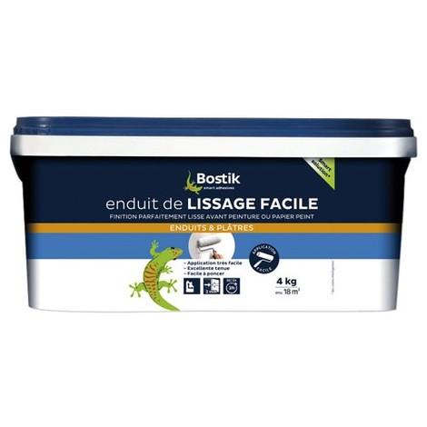 BOSTIK - Enduit de lissage facile - pâte rouleau 4 Kg