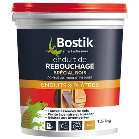BOSTIK - Enduit de rebouchage bois - pâte 1.5 Kg