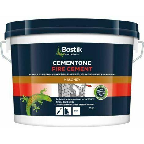 BOSTIK Fire Cement Natural 1kg Heat Resistant Boiler Flue Brick Mortar