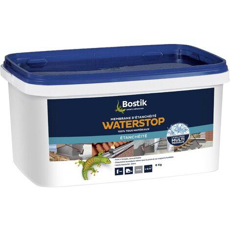Bostik Membrane d'étanchéité Waterstop Gris | Couleur: Gris - Conditionnement: 6KG