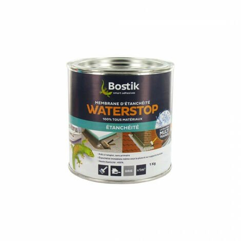 Bostik WATERSTOP waterproof membrane 1kg - Gray