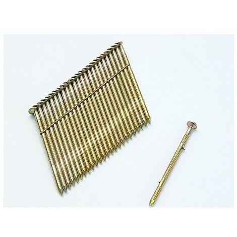 Bostitch S280R75G8 2.8 x 75mm 28 Deg. Stick Nail Ring Shank Galvanised Pack of 2000