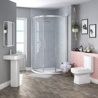 Boston 900mm Quadrant Shower Enclosure Suite with Easy Clean Glass