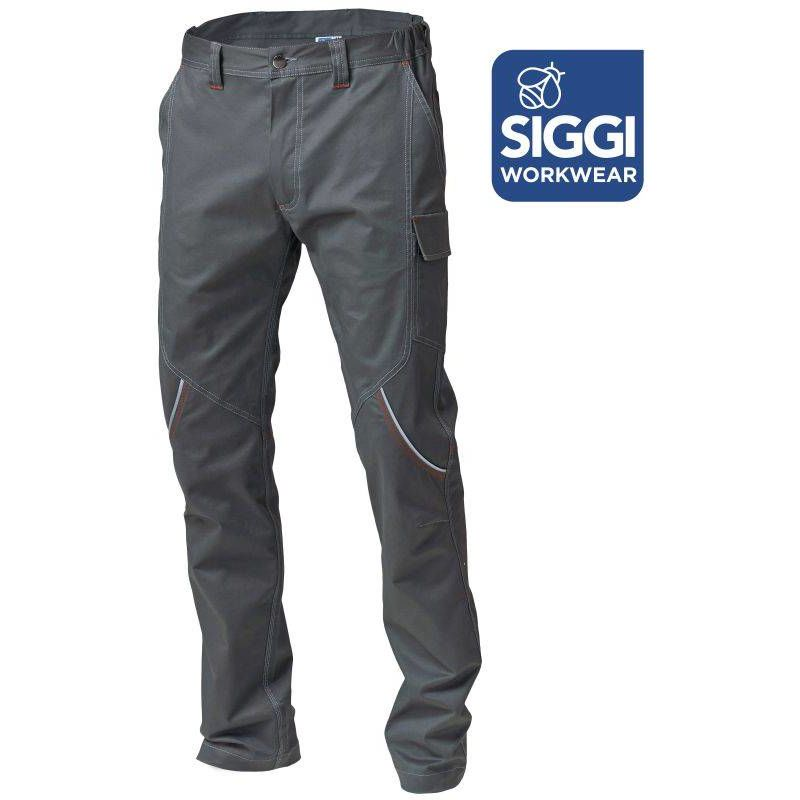 BOSTONN pantalon de travail en coton Siggi Gris - T. S - SIGGI