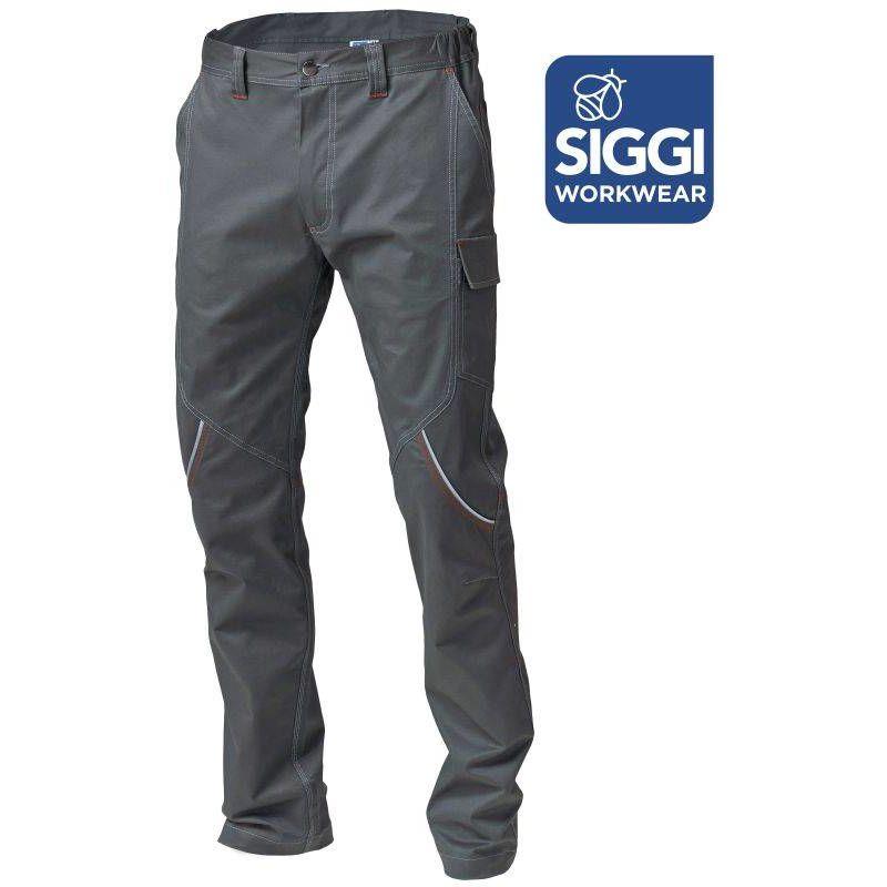 BOSTONN pantalon de travail en coton Siggi Gris - T. XL - SIGGI
