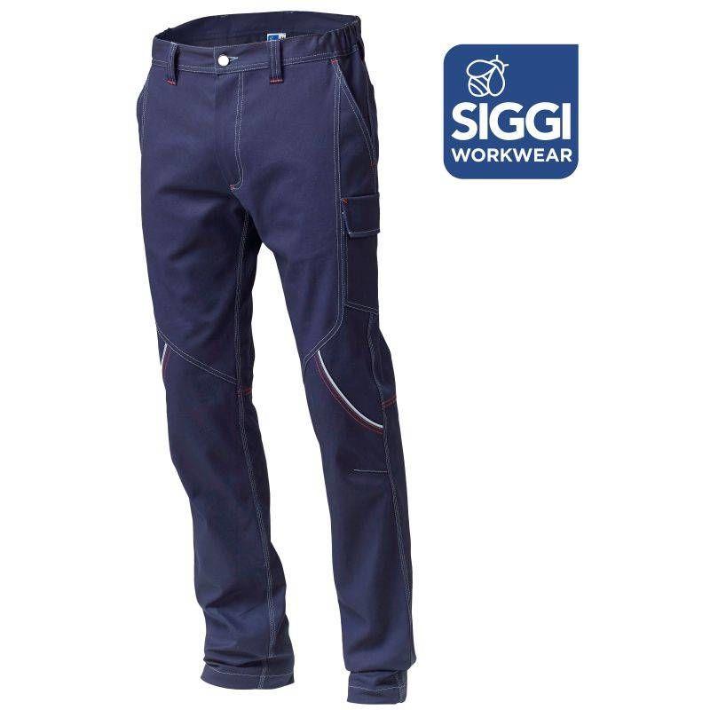 BOSTONN pantalon de travail en coton Siggi Marine - T. S - SIGGI