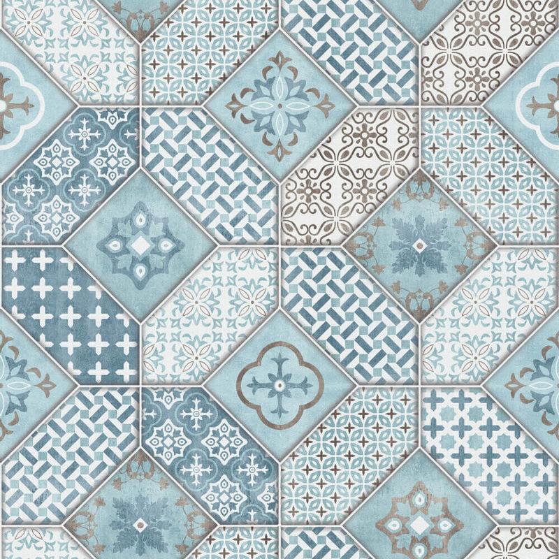 Erismann Imitations Tile Wallpaper Blue 6315 08 Full Roll