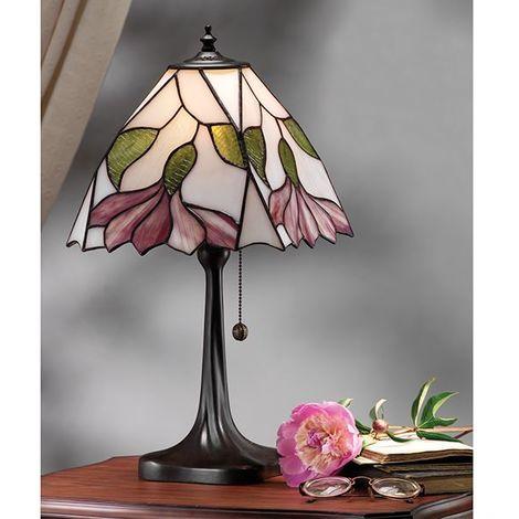 Botanica Tiffany Medium Floral Design Table Lamp 60W