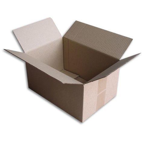 Lot de 10 Boîtes carton (N°34) format 300x200x160 mm
