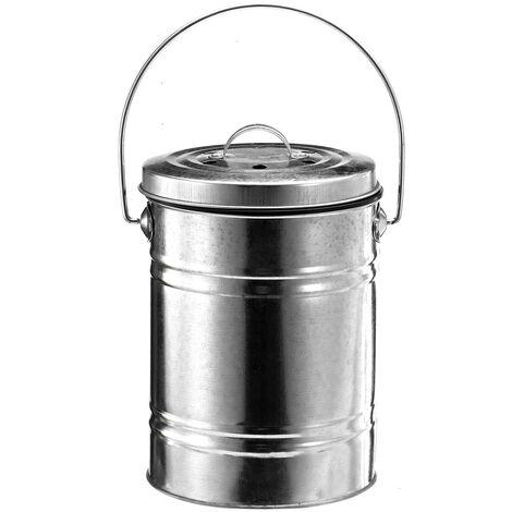 Bote de basura del jardín de la cocina del acero inoxidable del cubo del carrito del carrito de 0,8 galones