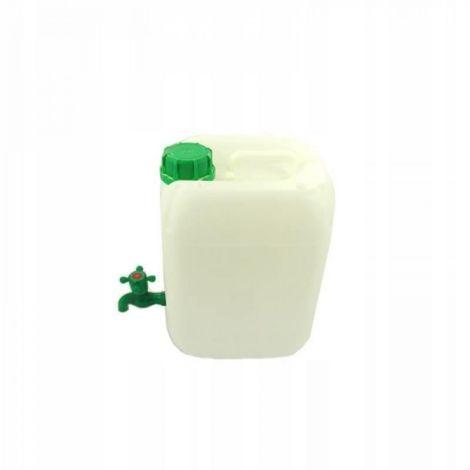 Bote de plástico de 20 l con grifo de agua