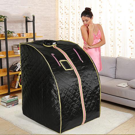 Bo?te de sauna portable infrarouge - Spa a Domicile pour une Personne - Ideal pour la Desintoxication et la Perte de Poids