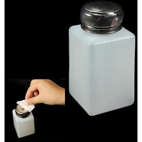 Bote dispensador liquido limpiador o alcohol por presion 200ml