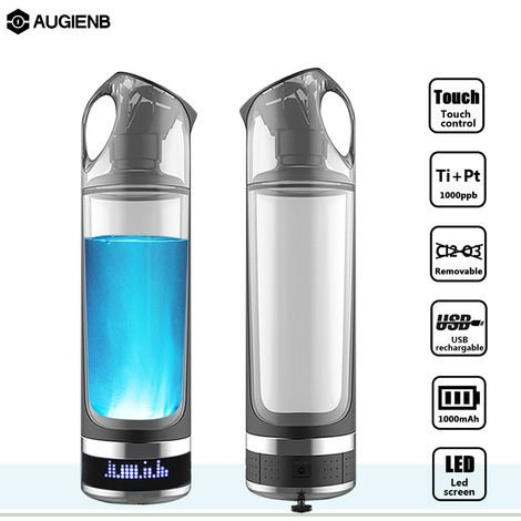 Botella de agua ionizador fabricante USB recargable alcalino rico en hidrógeno