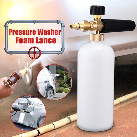 Botella de espuma con lanza de presión 1L 2000PSI - 5000PSI para Aldi Workzone Ryobi Vax Qualcast Parkside Mohoo
