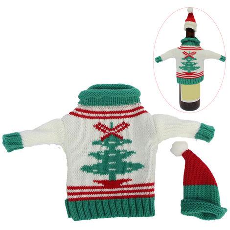 Botella de vino de Navidad nueva botella de vino cubierta de Navidad Decoracion, 4 #