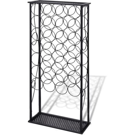 Botellero de metal para 28 botellas