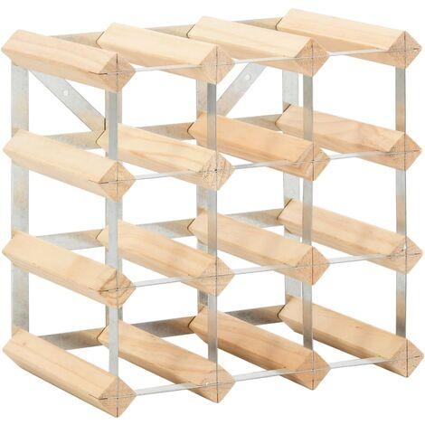 Botellero para 12 botellas de madera maciza de pino