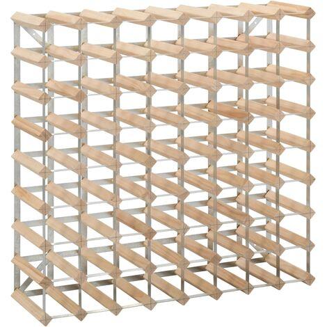 Botellero para 72 botellas de madera maciza de pino