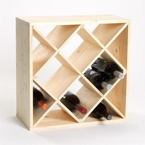 Botellero para vino, pino, compartimentos X-12