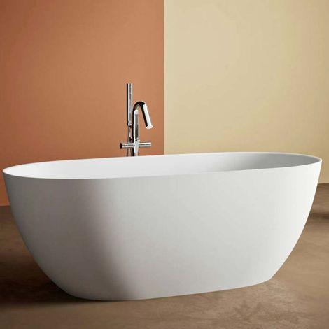 Botero vasca da bagno freestanding 160 x 74 x 60 in BluStone colore bianco