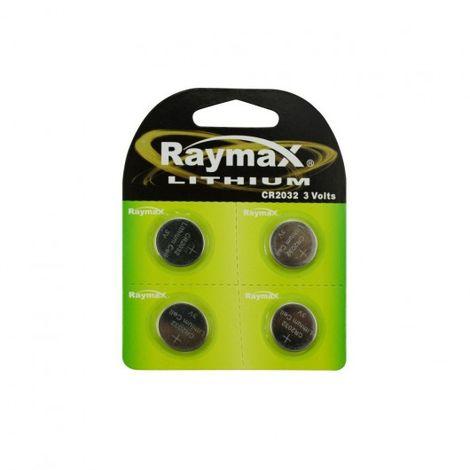 Botón CR2032 batería de litio de 3V 4 partes