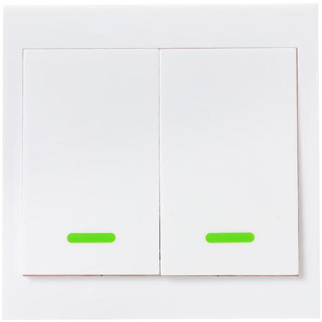 Boton de control remoto de interruptor de luz de pared, 2 unidades