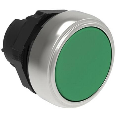 Botón de impulso Lovato Platino, Afeitada, Verde LPCB103