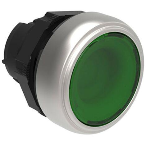 Botón pulsador iluminado Ras verde lovato Platino impulso LPCBL103