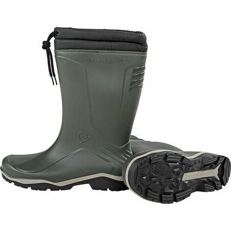 Botte caoutchouc Dunlop Blizzard Winter, feutré, vert 45