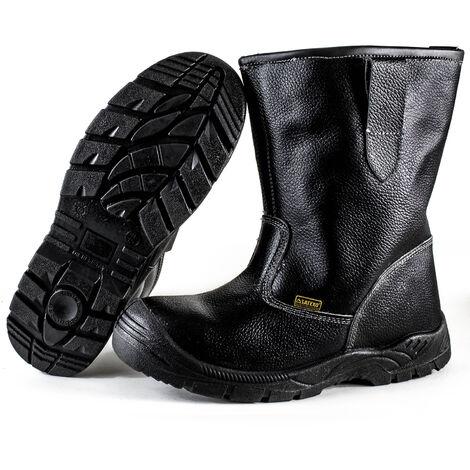 Bottes de sécurité et travail cuir noir Paire fourrees Norme EN345 S3 Taille - 46