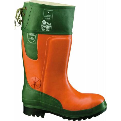 Bottes en caoutchouc forestier Ulme orange/vert Taille 42