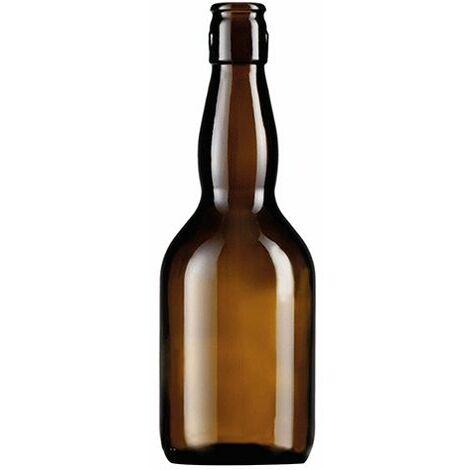 BOTTIGLIA IN VETRO TIPO 'BIRRA PUB' 500 ml - colore ambra