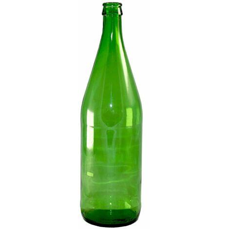 """main image of """"Bottiglia in vetro verde per passata di pomodoro o vino """"Vichy"""" chiusura con tappo a corona 1 Lt"""""""