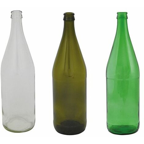"""main image of """"BOTTIGLIA IN VETRO 'VICHY' 1000 ml - colore verde"""""""