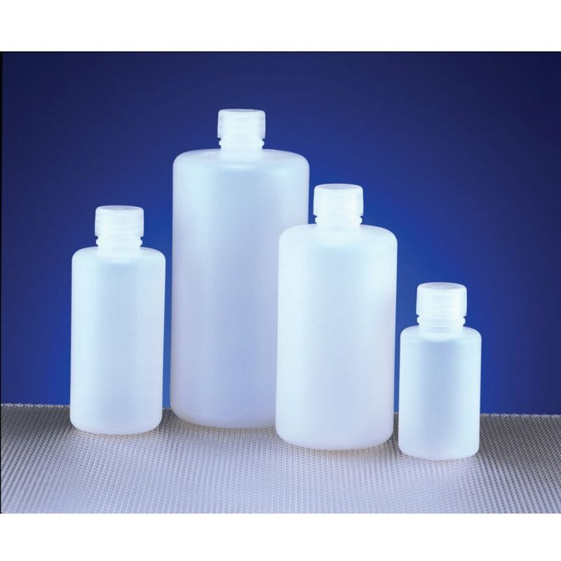 Image of Azlon Bottle Round, HDPE, Narrow Neck 100ML (Pk-10)