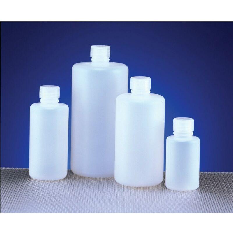 Image of Bottle Round, HDPE, Narrow Neck 250ML (Pk-10) - Azlon