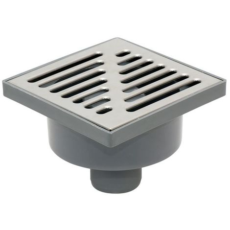 Bottom Outlet Stainless Steel Grid 150x150mm Floor Ground Waste Drain Gully Trap