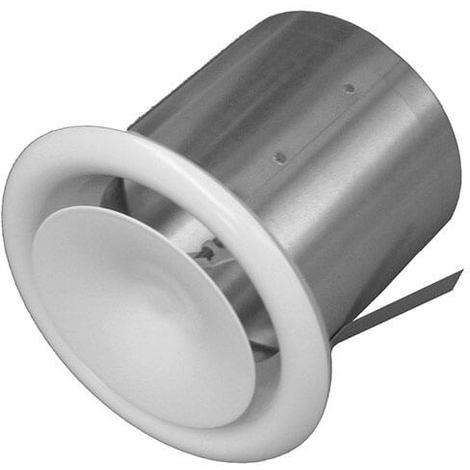 Bouche à cone reglable avec manchette placo - Diamètre intérieur 125 mm